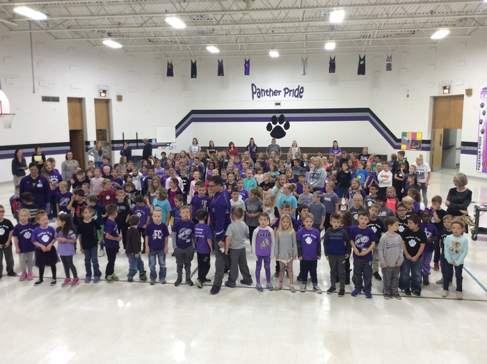 The elementary wore Panther colors today for RRW! We are FC proud!