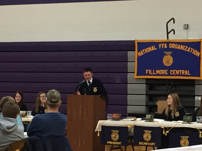Kyle Broman, giving his FFA speech!