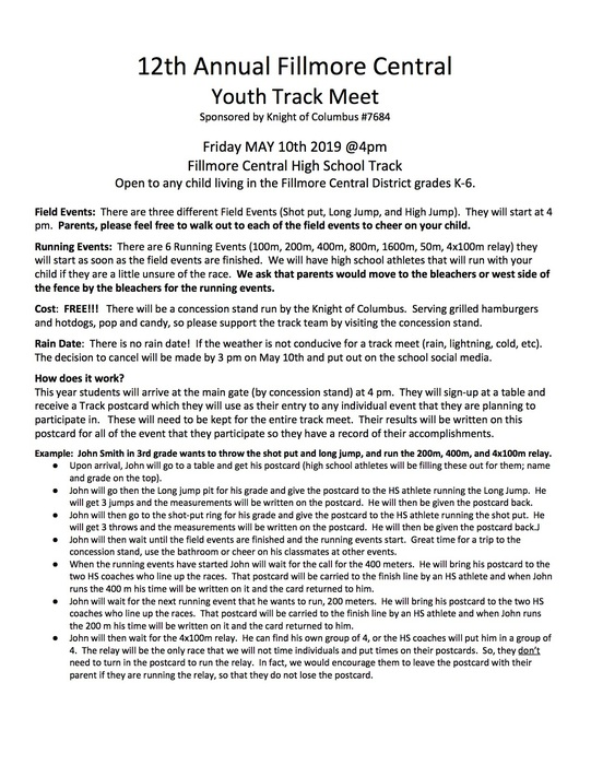 FC Youth Track Meet