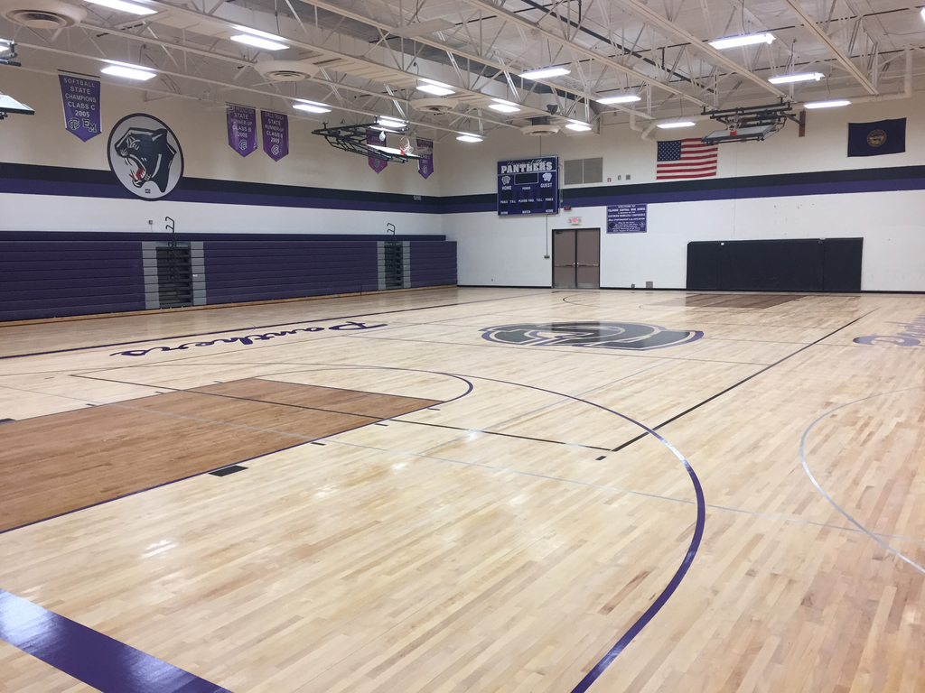 Gym floor looking great!