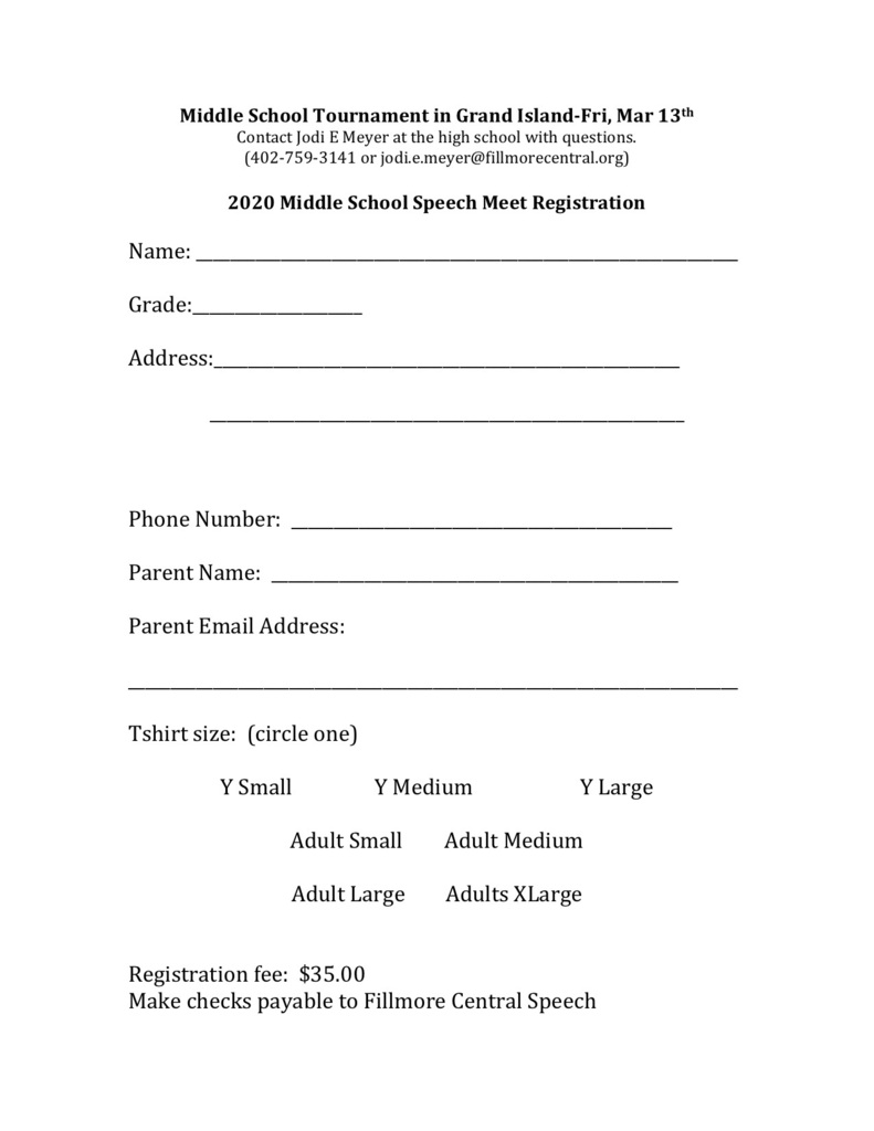 Speech Registration