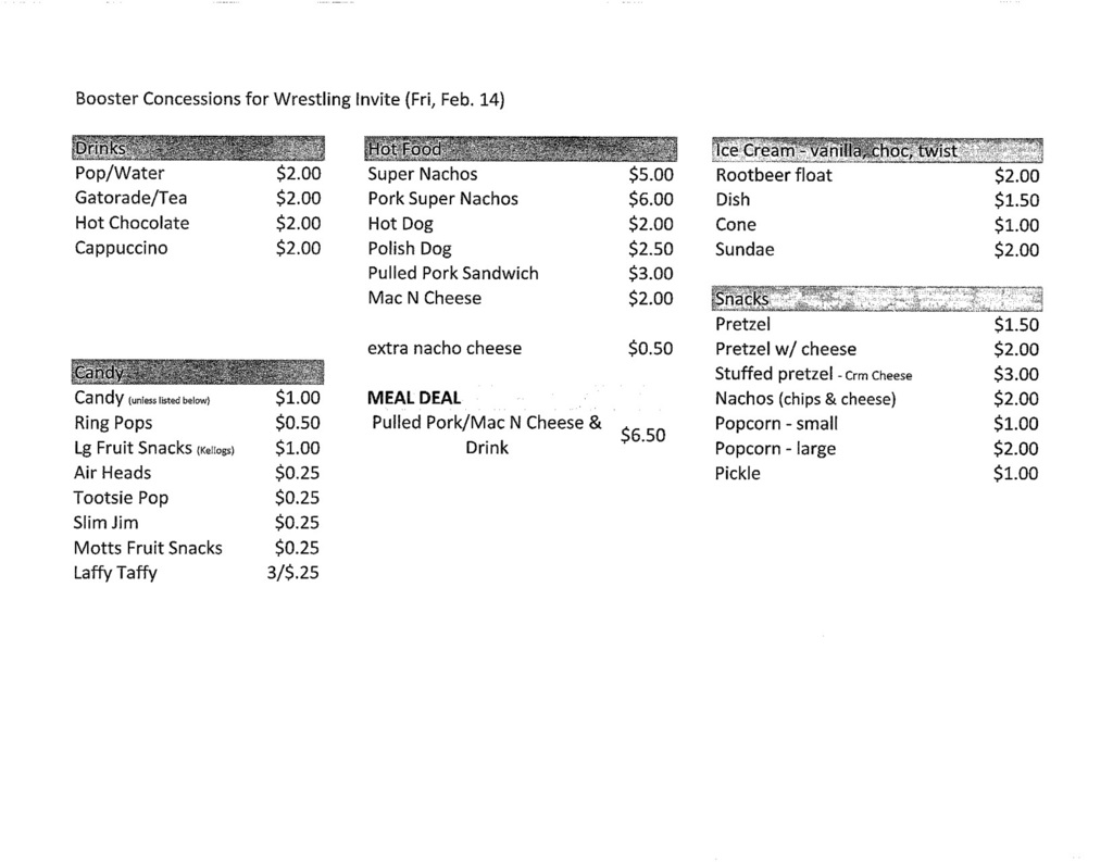 Friday Concession Stand