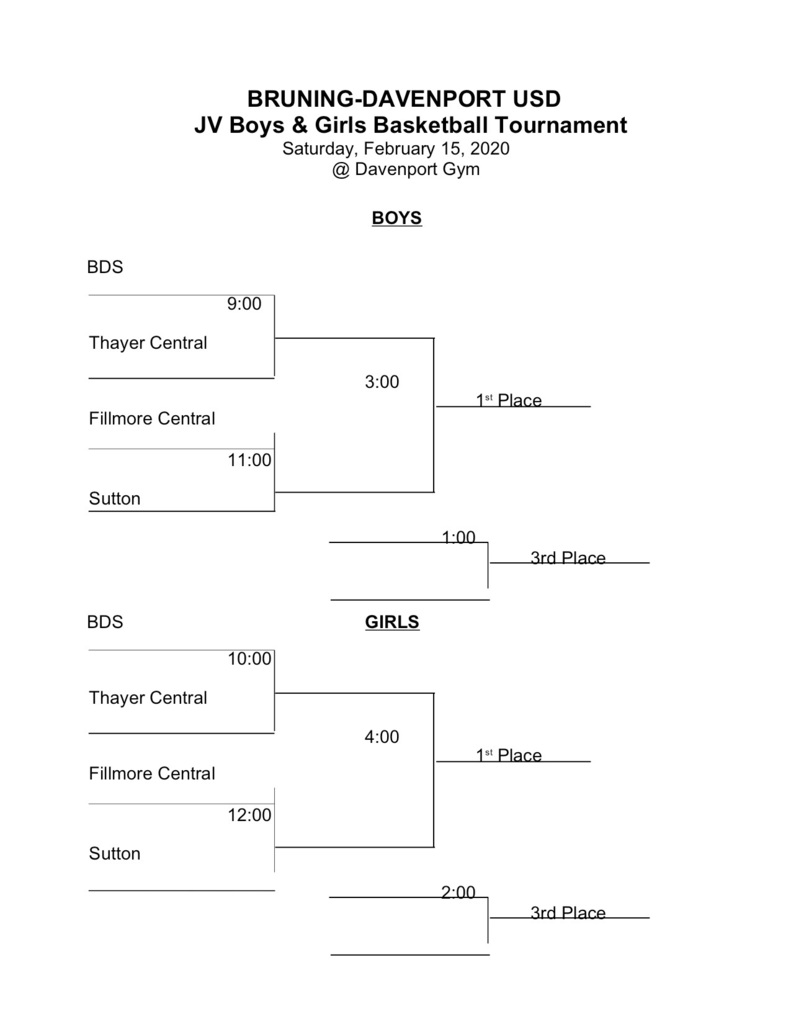 BDS JV Tournament