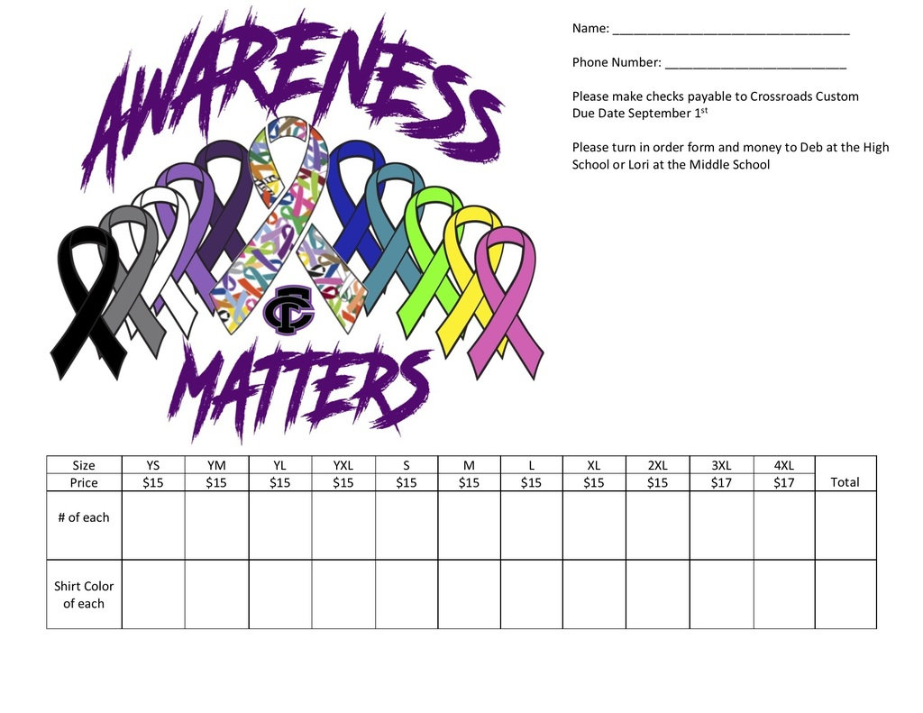 Cancer Shirt Order Form